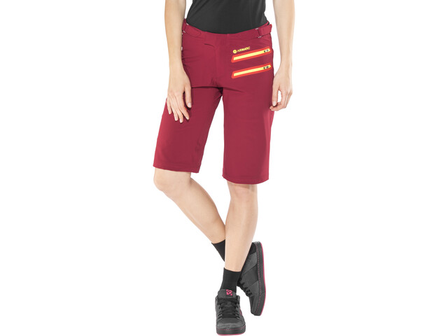 100% Airmatic Enduro/Trail Cycling Shorts Women red